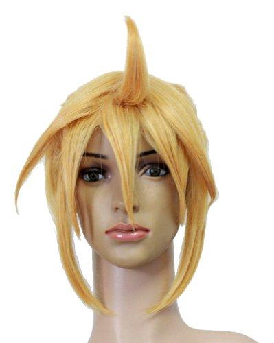 Amybria Kagamine Ii Len Rin Cosplay Costume Wig Short Golden Hair