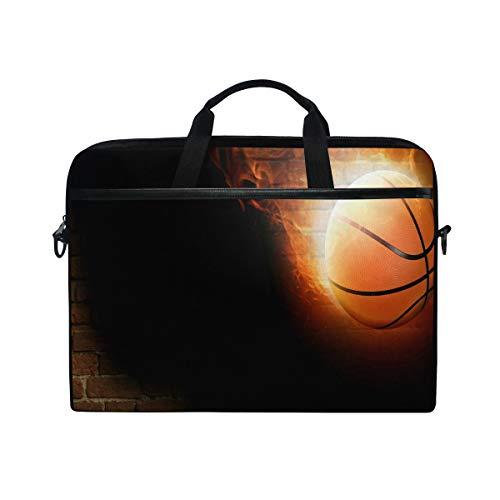 Perfect Basketball Laptop Case Laptop Shoulder Bag Notebook Sleeve Handbag Computer Tablet Briefcase Carrying Case Cover with Shoulder Strap Handle 14 15inch for Men Women Travel/Business/School