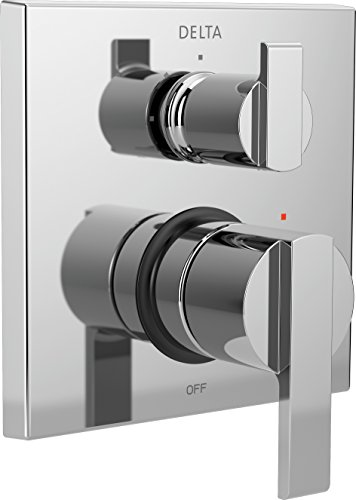 Delta Faucet T24867 Ara Angular Modern Monitor 14 Series Valve Trim with 3-Setting Integrated Diverter, Chrome