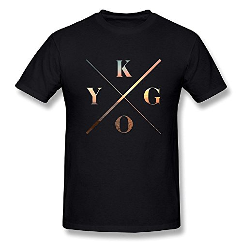 ToWi Men's Kygo Music Logo Short Sleeve T-shirt Black L