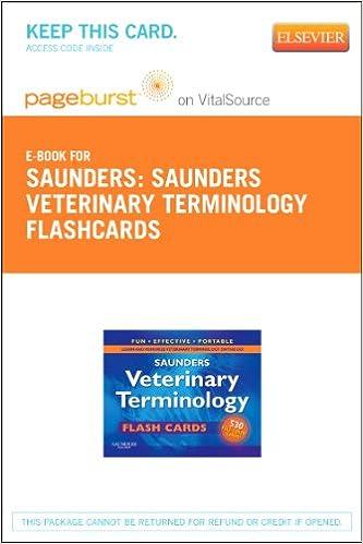 Saunders Veterinary Terminology Flash Cards Elsevier Ebook