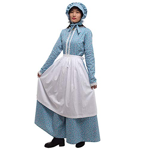 GRACEART Women's Pioneer Woman Costume Colonial Dress Blue 18 -
