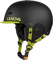 LANOVAGEAR Ski Helmet Snowboard Helmet for Kids Adult Adjustable Snow Helmet Youth Men Women with Mini Visor