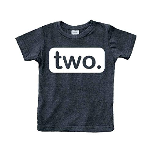 Unordinary Toddler 2nd Birthday Shirt (2y, Charcoal Black) ()