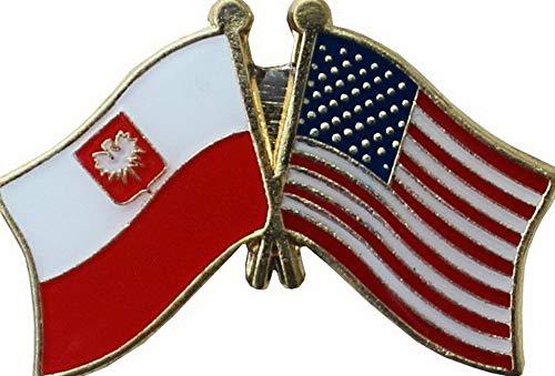 Hebel USA American Poland Eagle Friendship Flag Bike Motorcycle Hat Cap Lapel Pin | Model FLG - 604
