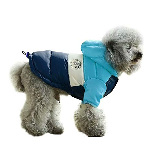 PET ARTIST Dog Winter Coat Hoodie Snowsuit Apparel with Leash Hole – Waterproof Windproof Hooded Dog Cold Weather Coat…