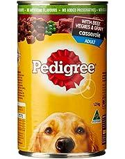 PEDIGREE Casserole Beef & Gravy Wet Dog Food 12 Cans Medium