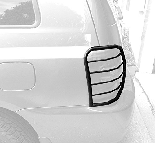 TYGER Custom Fit 01-07 Toyota Highlander 2pcs Black Taillight Covers Tail Light Guards (Mounting hardware & instruction included)