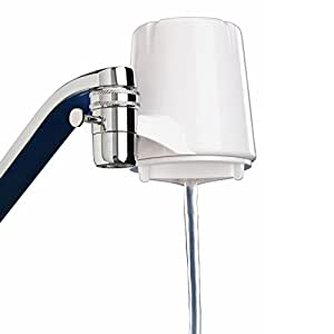 Culligan FM-15A Faucet Mount Filter with Advanced Water Filtration, White Finish