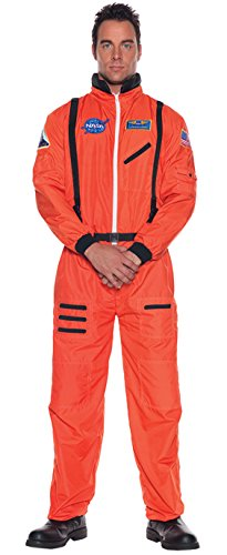 Orange Astronaut Jumpsuit Adult Mens Costumes (UHC Men's Uniform Nasa Space Astronaut Jumpsuit Halloween Fancy Costume, Teen (14-16))