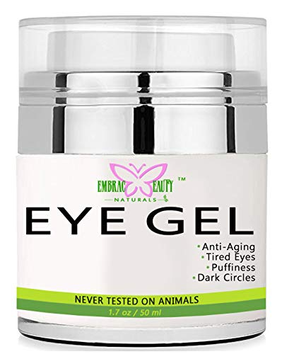 Eye Gel for Appearance of Dark Circles, Puffiness, Wrinkles and Bags. - for Under and Around Eyes (1.7 oz / 50 ml) -