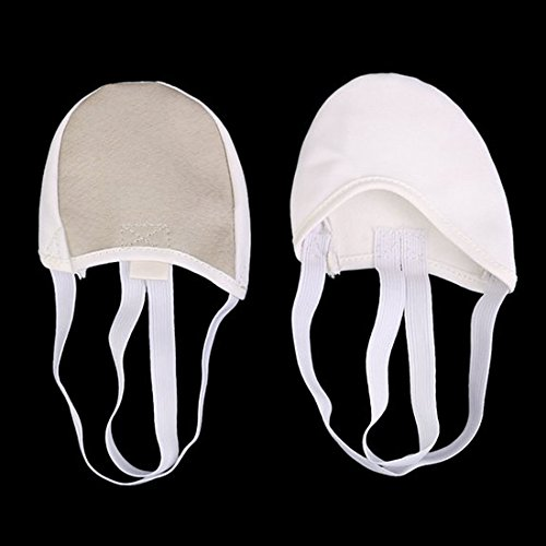 Canvas White beige S Soles Pirouette SODIAL R Shoes Half Ballet Dance Ballet Dance Shoes wfIHHa
