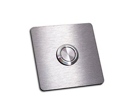 Amazon.com: Cuadrado Acero inoxidable timbre botón Panel ...