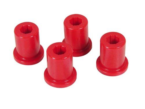 (Prothane 1-802 Red Rear Frame Shackle Bushing Kit for CJ5 and CJ7)