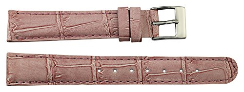 Moog Paris Pink Calf Leather Band Replacement, Pin Clasp, 16mm Strap _ B16018