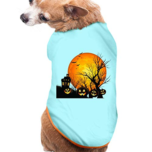 JuLeFan Dog T-Shirts Clothes Halloween Clipart Dog Shirt Colourful Dog Tee -