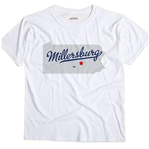 - GreatCitees Millersburg Pennsylvania PA MAP Unisex Souvenir T Shirt