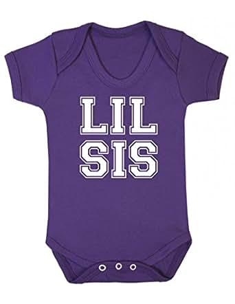 LIL Sis' diseño con texto en inglés y balón de diseño de con mangas para bebé body de