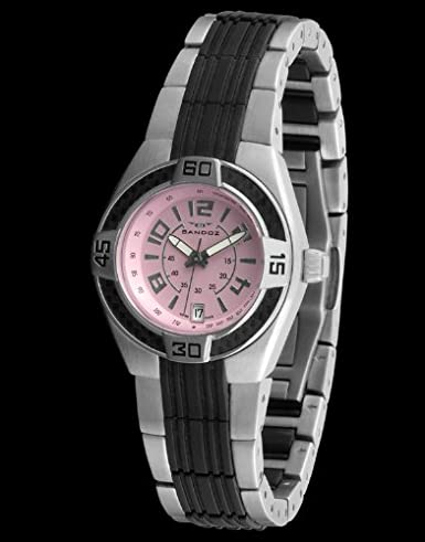 Sandoz 71570-07 - Reloj Fernando Alonso Señora negro/rosa: Amazon.es: Relojes