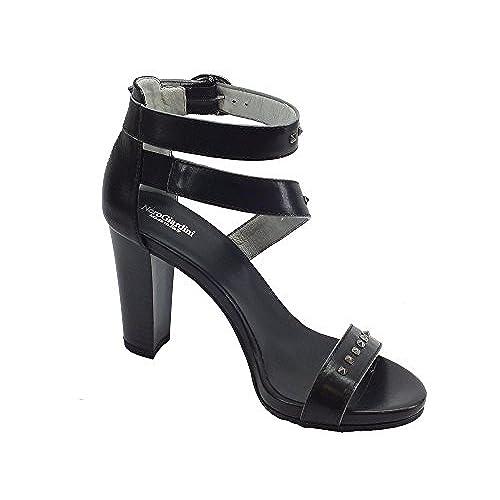 a60aae226cba9 Outlet Nero Giardini Sandalias de Vestir de Piel Para Mujer - www ...