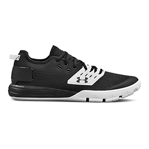 001 Shoes (Under Armour Men's Charged Ultimate 3 Sneaker, Black (001)/White, 10.5)