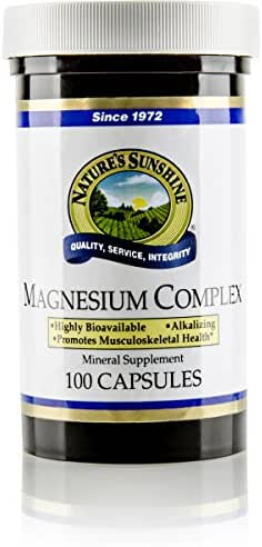 Nature's Sunshine Magnesium Complex, 100 Capsules | Magnesium Supplement with 100mg of Magnesium Citrate and Magnesium Malate for High Absorption