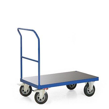 Plattformwagen mit Schiebebügel, Serie F 500, Lieferbar in 4 Größen, Ladeflächen Maß:850x500
