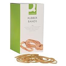 Q-Connect Rubber Band - Gomas elásticas, crema