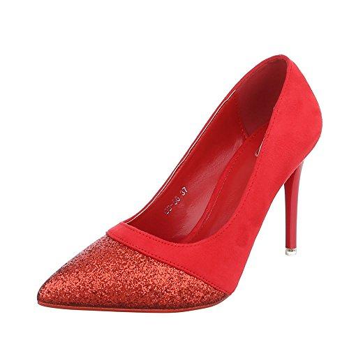 Ital-Design Women's Plateau Red GZW6T39