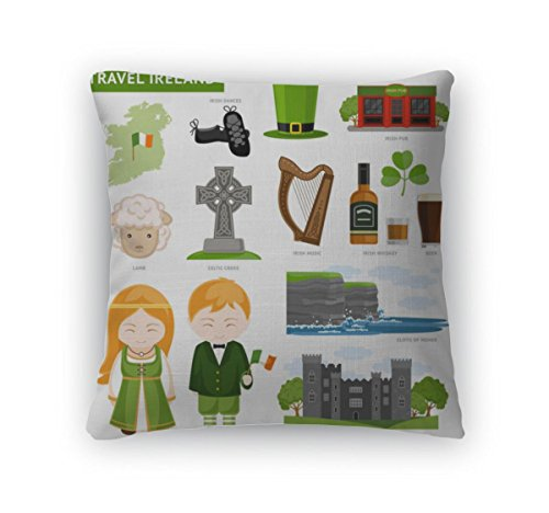 Celt Costumes For Children (Gear New Throw Pillow Accent Decor, Travel To Ireland, 20