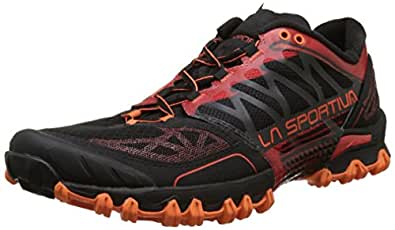 La Sportiva Men's Bushido Trail Running Shoe, Flame, 38.5 M EU