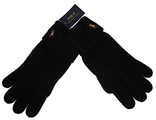 - Polo Ralph Lauren Men's 100% Merino Wool Gloves One Size Black