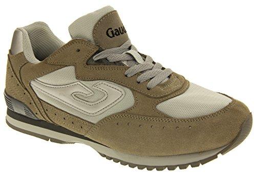 Grigio Gaudi Uomo Trainer Studio Pelle Sneaker Footwear x5qWwBYFAH