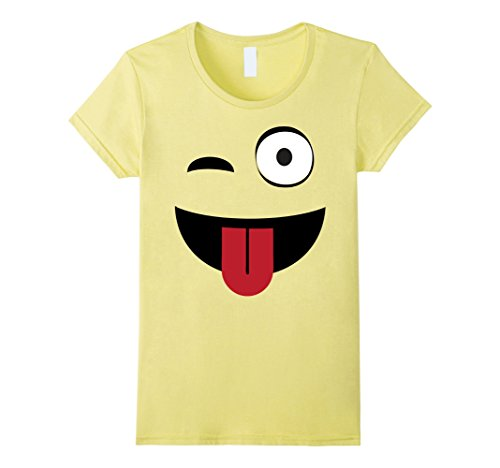 Ladies Emoji Wink T-Shirt
