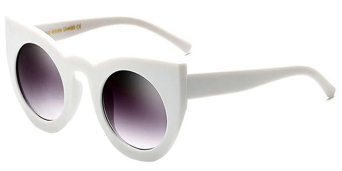 KINDOYO Rétro UV400 Femmes & Hommes ovale Lunettes de soleil Goggles Rose-Noir C5 1Cptm03y5