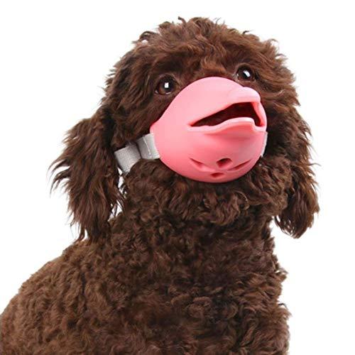 PanDaDa Pet Dog Silicone Muzzle Lovely Dolphin Shape Anti-bark Muzzle