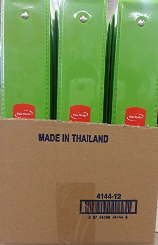 1.5 Inch Lime Green 3-Ring View Binder (Pack Of 12)