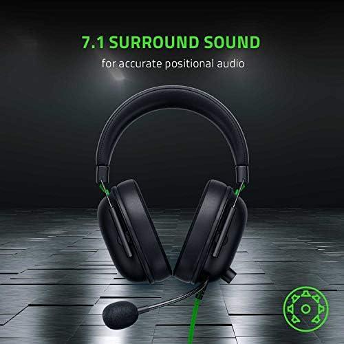 Razer BlackShark V2 X Gaming Headset: 7.1 Surround Sound Capable – 50mm Drivers – Memory Foam Cushion – for PC, PS4, Nintendo Switch – 3.5mm Headphone Jack – Classic Black 41SidRPjNkL