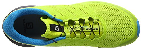 Salomon Hombres Sense Pro Max Running Trail Zapatos Lime Punch, Negro, Océano Hawaiano