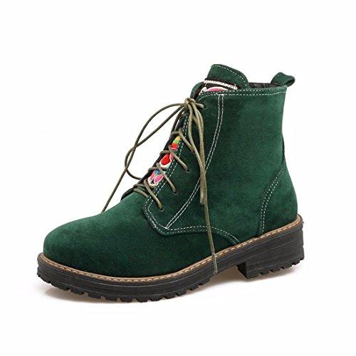 baja Dingxue green UPS cabeza tamaño Ma botas de sujeción El de delantera invierno redonda otoño femenina Camisa gran el y 8FwnHCUxqP