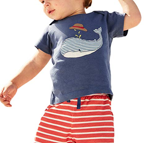 Toddler Baby Boys Summer Outfits Short Sleeve T-Shirt Shorts Sets Shark Outfits