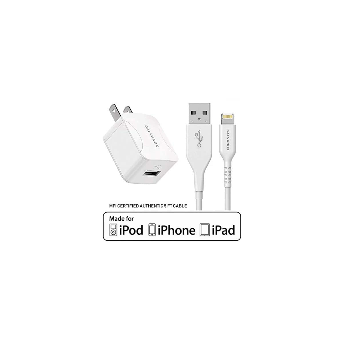 Dual USB Wall Charger Block with 2X10 Foot Long Charging Cord Compatible with Phone 11//11 Pro//11 Pro Max//Xs//Xs Max//XR//X 8//7//6//6S Plus IVELLTARE Phone Charger 10 ft Cable with Wall Plug Pad 4 Pack