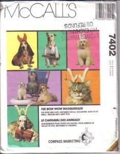 McCall's Patterns 7402 Bow Wow Masquerade for Dogs and Cats - Costumes (small, medium, large) ()