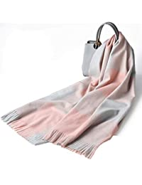nwn Scarf Female Winter Thick Section Warm Korean Version of The Wild Long Plaid Trend Shawl (Color : A)