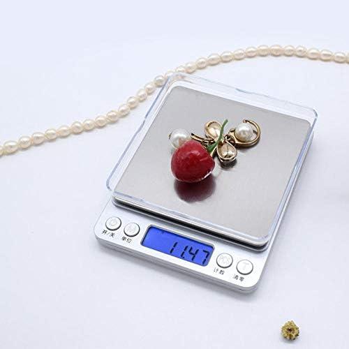 Bilance precisione bilancia bilancia digitale Bilancia cucina Bilancia da cucina elettronica per gioielli in acciaio inossidabile - 500/0,01 g
