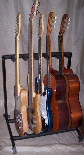 Soporte Stand para guitarra – Soporte para 5 guitarras y bajos ...
