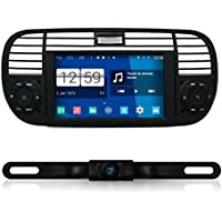 IOKONE Touch Screen Quad Core Android 4.4 1 Din Car DVD GPS Navigation System Stereo Radio DVD Player for Fiat 500 2007 2008 2009 2010 2012 2013 2014 2015