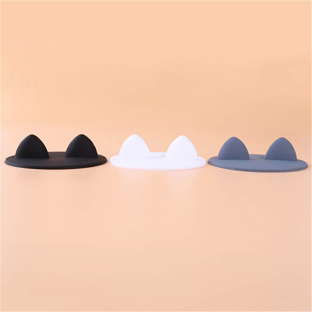 Flybloom Silicone Cup Cover Creative Food-Grade Silicone Cat Ear Coffee Mug Glass Cup Cover Lid Cap Drinking Water Accessories