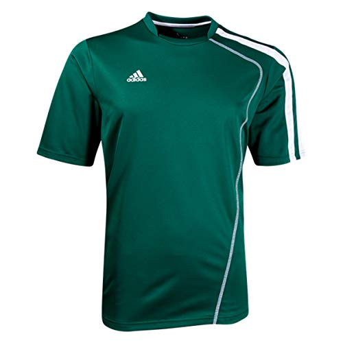 adidas Boys Sossto Soccer Jersey T-Shirt Forest/White Size Youth ()