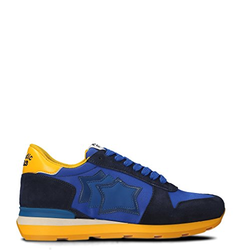 Atlantic Stars Herren Siriuswb66a Blau / Gelb Leder Sneakers